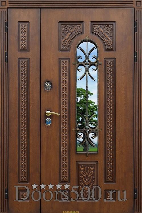 двустворчатая металлическая уличная дверь цена